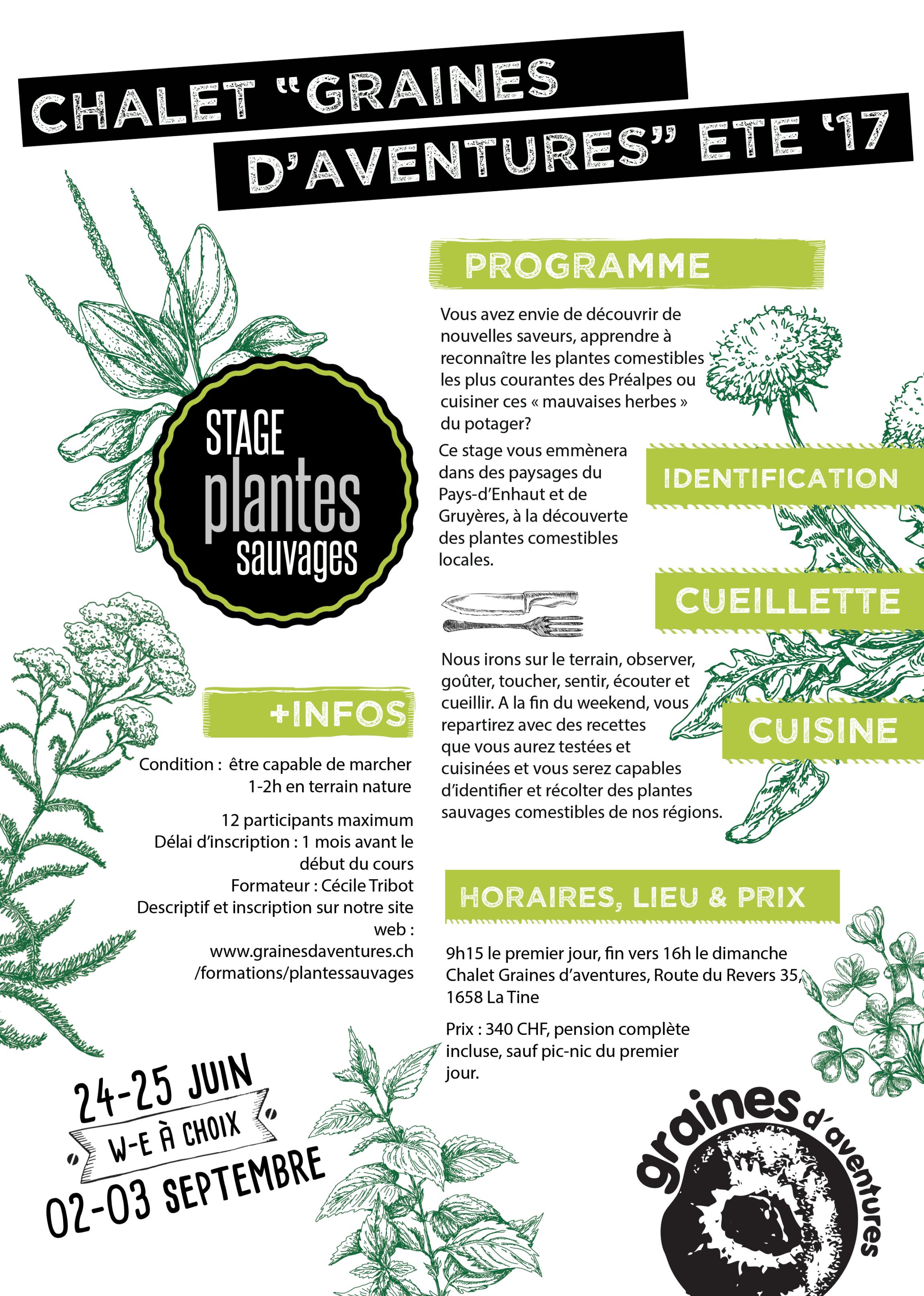 Stages d t 2017 plantes sauvages et comestibles - Date fin soldes ete 2017 ...